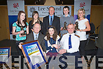 PLAQUES & CERTIFICATES: The five receipents who were the winner of the Lee Strand - Kerry Garda Youth Acheivement  Distinction and Overall winner were presented with their awards from Lee Strand Board and  Chief Supt Pat Sulllivan in Ballyroe on Friday night. Front l-r: John O'Sullivan (GM Lee Strand), Emer O'Shea (Currow) overall winner and Chief Supt Pat O'Sullivan. Back l-r:  Stefany Griffin (Killorglin), Niamh Godley(Fenit) Brendan Walsh (Lee Strand Chairman), Donal Walsh (Tralee) and Debroah Stack (Listowel)........... . ............................... ..........