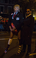 NEW YORK, NY - OCTOBER 31,2016. A man dressed as Donald Trump participates in the 43rd annual Village Halloween Parade in Manhattan October 31,2016. Photo by VIEWpress/Maite H. Mateo.
