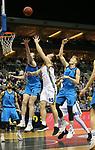 19.03.2019, Mercedes Benz Arena, Berlin, GER, EuroLeague/EuroCup, ALBA ERLIN vs.  MoraBanc Andorra, <br /> im Bild Dennis Clifford (ALBA Berlin #33), Niels Giffey (ALBA Berlin #5),<br /> Rafa Luz (Andorra #5)<br /> <br />      <br /> Foto © nordphoto / Engler