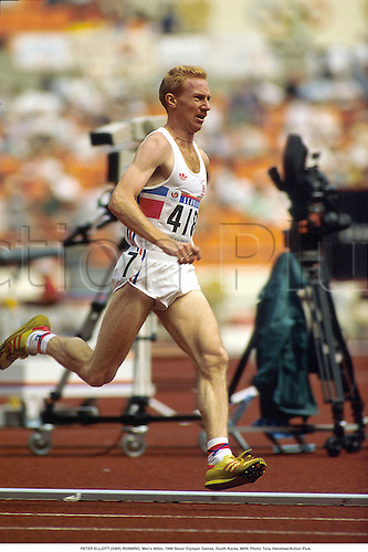 PETER ELLIOTT (GBR) RUNNING, Men's 800m, 1988 Seoul Olympic Games, South Korea, 8809. Photo: Tony Henshaw/Action Plus....athletics.distance.Olympics.1988.man.track and field.male