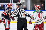 S&ouml;dert&auml;lje 2013-12-12 Ishockey Hockeyallsvenskan S&ouml;dert&auml;lje SK - Mora IK :  <br /> S&ouml;dert&auml;lje 27 Jacob Dahlstr&ouml;m och Mora 40 Jonathan Harty i ett br&aring;k under den f&ouml;rsta perioden<br /> (Foto: Kenta J&ouml;nsson) Nyckelord:  portr&auml;tt portrait