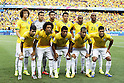 Brazil team group line-up, JULY 4, 2014 - Football / Soccer : FIFA World Cup Brazil 2014 Quarter Final match between Brazil 2-1 Colombia at the Castelao arena in Fortaleza, Brazil. <br /> (Photo by AFLO)