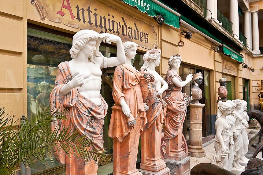Antique store, Madrid, Spain