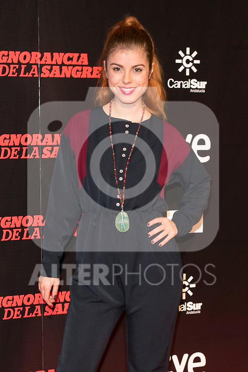 """Alba Messa attends """"La Ignorancia de la Sangre"""" Premiere at Capitol Cinema in Madrid, Spain. November 13, 2014. (ALTERPHOTOS/Carlos Dafonte)"""