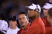 06 September 2008: Southeast Missouri State Head Coach Tony Samuel looks up at the scoreboard during the first half against the tigers at Memorial Stadium in Columbia, Missouri.