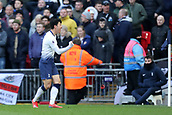 2nd February 2019, Wembley Stadium, London England; EPL Premier League football, Tottenham Hotspur versus Newcastle United; Son Heung-Min of Tottenham Hotspur celebrates as he scores for 1-0