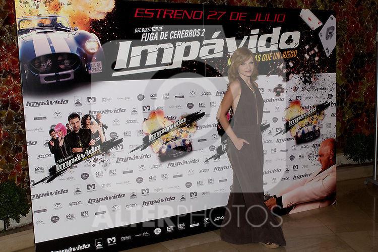 26.07.2012. Premier at Palafox Cinema in Madrid of the movie 'Impavido´, directed by Carlos Theron and starring by Marta Torne, Selu Nieto, Nacho Vidal, Carolina Bona, Julian Villagran and Manolo Solo. In the image Carolina Bona (Alterphotos/Marta Gonzalez)