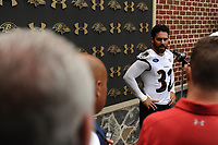 S Eric Weddle addressed the media following the first team practice of training camp on Thursday morning at their facility in Owings Mills.