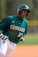 Chicago State University Cougars outfielder Jeremy Legania #20 during a game against the Muskingum Fighting Muskies at South County Regional Park on March 3, 2013 in Punta Gorda, Florida.  (Mike Janes/Four Seam Images)