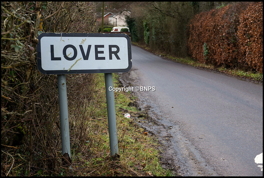 BNPS.co.uk (01202 558833)<br /> Pic: TomWren/BNPS<br /> <br /> The Lover sign as you entre the village.<br /> <br /> A British village is cashing in on the cupid effect this Valentine's Day by launching its own postal service so anyone can send a card from the 'world's most romantic village'.<br /> <br /> The tiny village of Lover in Wiltshire has launched the 'Lover Post' with limited edition cards and a special post mark showing it has been sent from the tender-hearted village.<br /> <br /> The quirky gimmick is part of a campaign to save the once-thriving village for the local community.