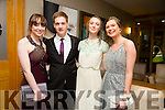 Enjoying a great time at the Milltown Presentation Debs at Ballyroe Heights Hotel on Tuesday were  l-r Siobhan Ladden, Patrick Stapleton, Claire Riordan and Amy Cahill