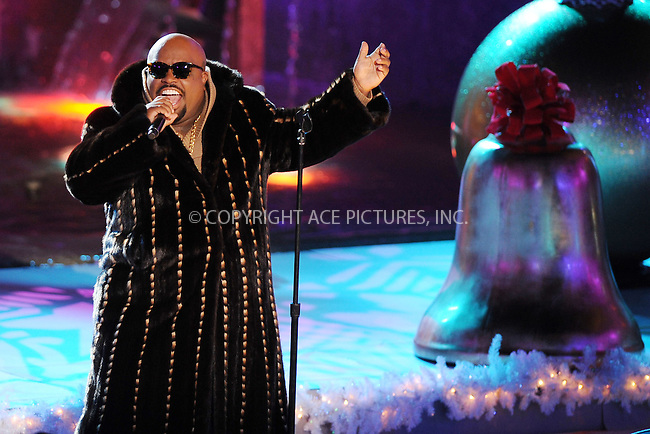 WWW.ACEPIXS.COM . . . . . .November 28, 2012...New York City...Cee-Lo Green at The 80th Annual Rockefeller Center Christmas Tree Lighting Ceremony on November 28, 2012 in New York City ....Please byline: KRISTIN CALLAHAN - ACEPIXS.COM.. . . . . . ..Ace Pictures, Inc: ..tel: (212) 243 8787 or (646) 769 0430..e-mail: info@acepixs.com..web: http://www.acepixs.com .