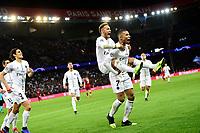 celebration des joueurs du PSG apres le goal de NEYMAR JR (PSG)<br /> MBAPPE Kylian (PSG) <br /> Parigi 28-11-2018 <br /> Paris Saint Germain - Liverpool Champions League 2018/2019<br /> Foto JB Autissier / Panoramic / Insidefoto <br /> ITALY ONLY