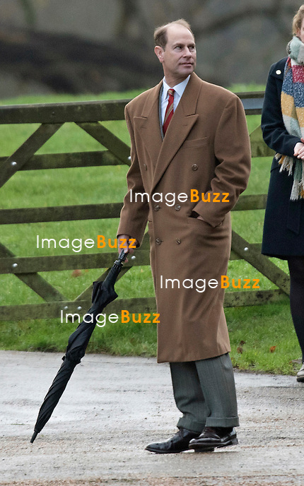 27.12.2015, Sandringham; UK: KPRINCE EDWARD<br /> joined other members of the Royal Family for the  Sunday Church Service at St. Mary Magdalene's on the Sandringham Estate.<br /> The Royals are spending the festive season at Sandringham.