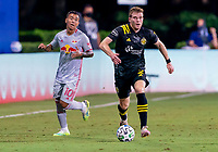 16th July 2020, Orlando, Florida, USA;  Columbus Crew defender Chris Cadden (2) runs with the ball during the MLS Is Back Tournament between the Columbus Crew SC versus New York Red Bulls on July 16, 2020 at the ESPN Wide World of Sports, Orlando FL.