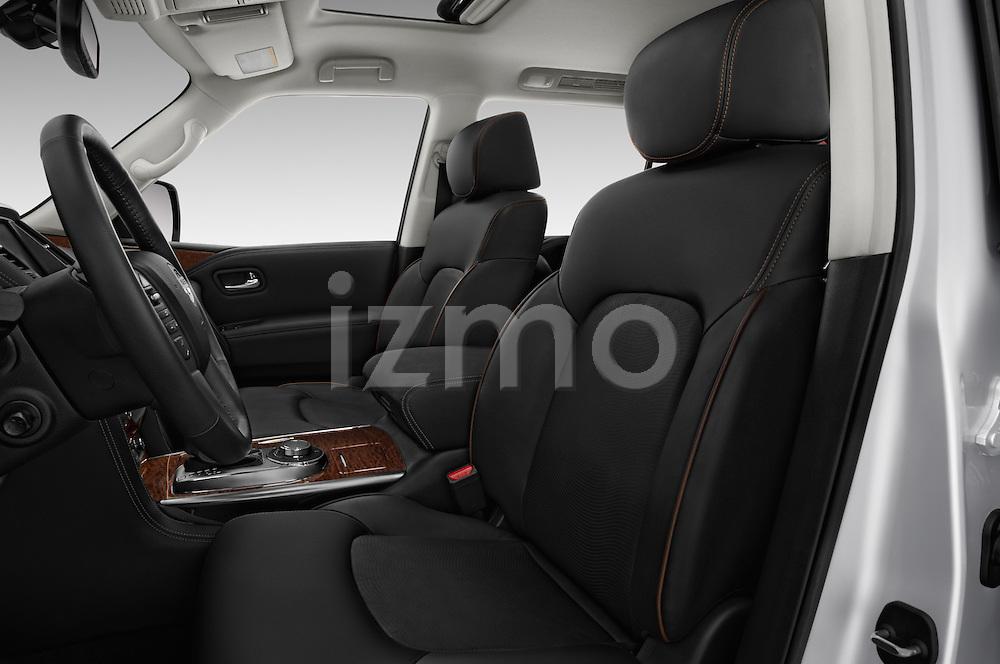 Front seat view of 2017 Nissan Armada Platinum 5 Door SUV Front Seat  car photos