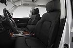 Front seat view of 2018 Nissan Armada Platinum 5 Door SUV Front Seat  car photos