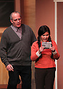 """CSTOCK is presenting the musical  """"White Christmas"""" Dec 2-18 at their Silverdale theater. This production  adaptation features seventeen Irving Berlin songs. Actors Eric Wise and Abigail Dominguiano perform a scene Monday during rehearsal. Brad Camp 