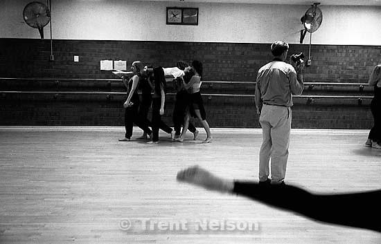 Rick Egan shooting dance class at Alta HS.<br />