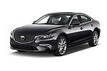 2017 Mazda Mazda6 Prestige Edition 4 Door Sedan angular front stock photos of front three quarter view
