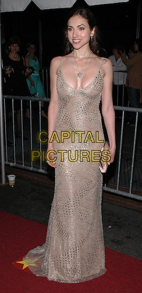 EDEN RIEGEL of All My Children.Arrivals at the 2005 Daytime Emmys at Radio City Music Hall in New York City, USA, 20 May 2005..full length gold dress cleavage  sequined.Ref: ADM.www.capitalpictures.com.sales@capitalpictures.com.©Patti Ouderkirk/AdMedia/Capital Pictures.