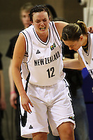 Tall Ferns forward Pip Connell goes off injured during the International women's basketball match between NZ Tall Ferns and Australian Opals at Te Rauparaha Stadium, Porirua, Wellington, New Zealand on Monday 31 August 2009. Photo: Dave Lintott / lintottphoto.co.nz