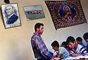 Turkey 1997 .In the school of Midin, children with their teacher having a lesson of Syriac.Turquie 1997.A l'ecole du village de Midin, cours de Syriac pour les jeunes eleves