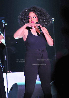 """The grand finale , after performing her last song Miss Ross struts back on stage wearing only a black tank top and black tights. Legendary singer, songwriter and performer Diana Ross brings down the house at her opening show of her 2011 """"More Than Yesterday"""" North America Tour Friday  Feb. 25,2011 night in Philadelphia Mississippi at the  Pearl River Casino in their newly renovated 5000 seat """"Arena"""". """" Miss Ross""""  opened the show with """" I'm Coming OUt """" and continued to thrill for the next 90 minutes and 5 costume changes. Photo©Suzi Altman"""
