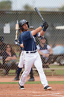 San Diego Padres outfielder Nate Easley (3) during a Minor League Spring Training game against the Seattle Mariners at Peoria Sports Complex on March 24, 2018 in Peoria, Arizona. (Zachary Lucy/Four Seam Images)