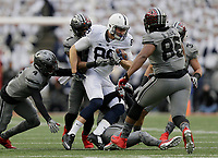 Ohio State Buckeyes linebacker Jerome Baker (17) tackles Penn State Nittany Lions tight end Mike Gesicki (88) during the first quarter of the NCAA football game at Ohio Stadium in Columbus on Oct. 28, 2017. [Adam Cairns/Dispatch]