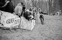 Sven Nys (BEL/Crelan-AAdrinks) in the race lead<br /> <br /> Duinencross Koksijde WorldCup 2015
