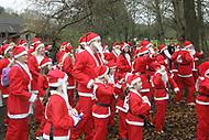 Santas in Vivary Park 2013