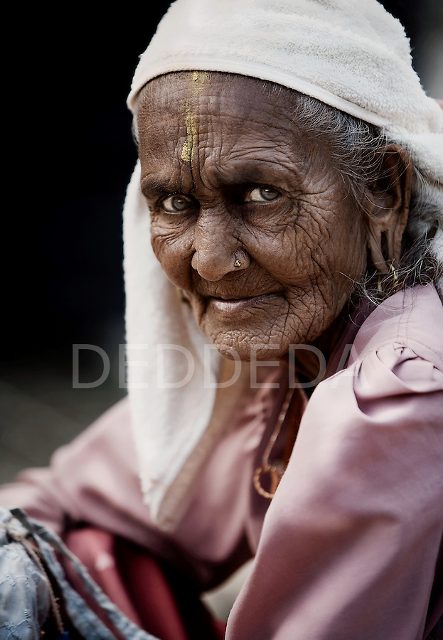 "An elderly woman at an ""Aged Shelter"" in Pokhara, Nepal."