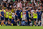 Osako Yuya of Japan (C) celebrating his score with his teammates during the AFC Asian Cup UAE 2019 Semi Finals match between I.R. Iran (IRN) and Japan (JPN) at Hazza Bin Zayed Stadium  on 28 January 2019 in Al Alin, United Arab Emirates. Photo by Marcio Rodrigo Machado / Power Sport Images