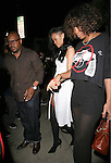 .April 19th 2012  ...Rihanna leaving Giorgio Baldi restaurant in Santa Monica wearing a.Garder belt lingerie black lace stalkings showing off her leg in a white dress holding hands with her friend wearing a big gun shirt. ..AbilityFilms@yahoo.com.805-427-3519.www.AbilityFilms.com..