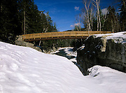 The Rocky Gorge Bridge which crosses the Swift River..Located in the White Mountains, New Hampshire USA next to the Kancamagus Highway