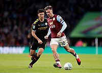 1st March 2020; Wembley Stadium, London, England; Carabao Cup Final, League Cup, Aston Villa versus Manchester City; Jack Grealish of Aston Villa passing the ball