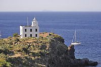 - Capraia island (Tuscan Archipelago), lighthouse of Ferraione point<br /> <br /> - isola di Capraia (Arcipelago Toscano), faro di Punta del Ferraione