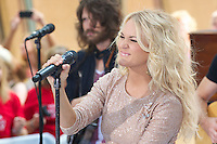 NEW YORK, NY - AUGUST 15: Carrie Underwood performs on NBC's Today Show Toyota Concert Series at Rockefeller Center in New York City. August 15, 2012: &copy;&nbsp;mpi44/MediaPunch Inc. /NortePhoto.com<br />