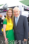 Sarah Tobin Tralee Pictured with Minister Jimmy Deenihan at Listowel Races on Friday.