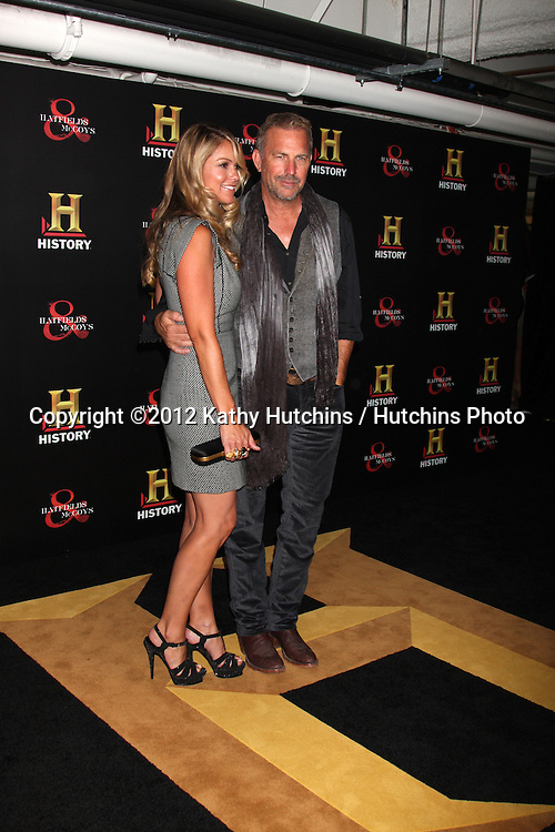 "LOS ANGELES - SEP 22:  Kevin Costner arrives at the ""HATFIELDS & McCOYS"" Pre-Emmy Party. at SOHO Club on September 22, 2012 in West Hollywood, CA"