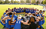 Team Huddle_U5A8441<br /> <br /> The BYU Women's Soccer team huddles up for a cheer before the game. The game between BYU and Ohio State ended in a scoreless draw at South Field on August 21, 2017.<br /> <br /> 17wSOC vs Ohio State<br /> <br /> August 21, 2017<br /> <br /> Photo by Jaren Wilkey/BYU<br /> <br /> © BYU PHOTO 2017<br /> All Rights Reserved<br /> photo@byu.edu  (801)422-7322
