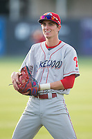 Carlos Tocci (15) of the Lakewood BlueClaws prior to the game against the Kannapolis Intimidators at CMC-Northeast Stadium on May 16, 2015 in Kannapolis, North Carolina.  The BlueClaws defeated the Intimidators 9-7.  (Brian Westerholt/Four Seam Images)