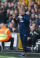 Brentford manager Dean Smith  during the Sky Bet Championship match between Millwall and Brentford at The Den, London, England on 10 March 2018. Photo by Andrew Aleksiejczuk / PRiME Media Images.