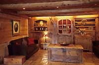 """Europe/France/Rhône-Alpes/74/Haute-Savoie/Megève: Hôtel-restaurant """"Le Fer à Cheval"""" - Détail d'un salon"""