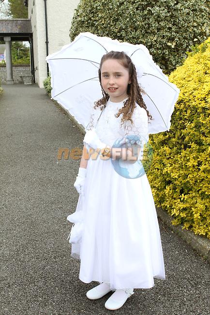 Clodagh Cassin at the Communion in Duleek Church...(Photo Jenny Matthews/www.newsfile.ie)