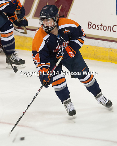 Melissa Piacentini (SU - 14) - The Boston College Eagles defeated the visiting Syracuse University Orange 10-2 on Saturday, October 4, 2014, at Kelley Rink in Conte Forum in Chestnut Hill, Massachusetts.