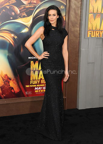 """HOLLYWOOD, CA - MAY 7:  Megan Gale at the Los Angeles premiere of """"Mad Max: Fury Road"""" at the TCL Chinese Theatre on May 7, 2015 in Hollywood, California. Credit: PGSK/MediaPunch"""