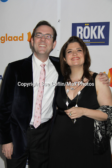 Ted Allen & Alex Guarnaschelli (Chopped) at the 22nd Annual Glaad Media Awards honoring Ricky Martin (GH) & Russell Simmons on March 19, 2011 at the New York Marriott Marquis, New York City, New York. (Photo by Sue Coflin/Max Photos)