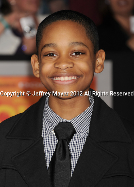 LOS ANGELES, CA - FEBRUARY 22: Tyrel Jackson Williams attends the 'John Carter' Los Angeles premiere held at the Regal Cinemas L.A. Live on February 22, 2012 in Los Angeles, California.